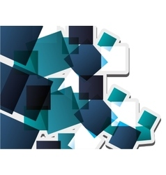 Abstract square pattern background design vector