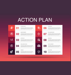 Action plan infographic 10 option template vector