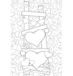adult coloring bookpage a cute stair full of vector image
