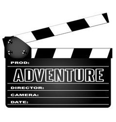 adventure movie clapperboard vector image