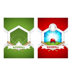 baseball posters vector image