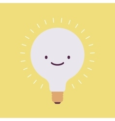 Brightly flickering bulb with a smile vector