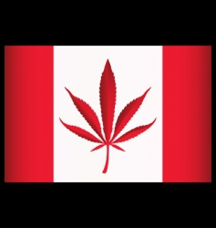 cannabis canada flag vector illustration vector image