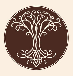 Celtic tree life vector