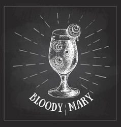 chalk drawing halloween hand drawn cocktail vector image