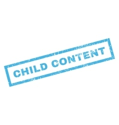 Child Content Rubber Stamp vector