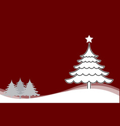 Christmas background with christmas tree white vector