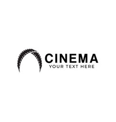 cinema filmstrip graphic design template isolated vector image