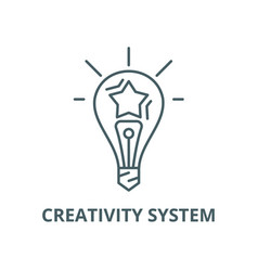 creativity system line icon linear concept vector image