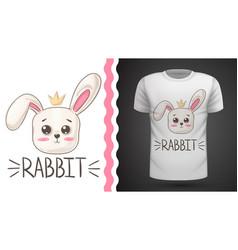Cute rabbit - idea for print t-shirt vector