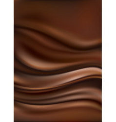 dark chocolate waves background vector image