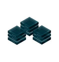 database server device technology isometric vector image