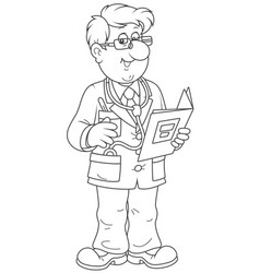 Doctor with a folder vector