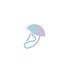 Ear radiology medical logo designs inspiration vector