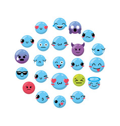 Emoji emtion expresion backgroun design vector