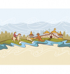 Fairytale background vector