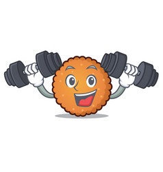 fitness cookies character cartoon style vector image