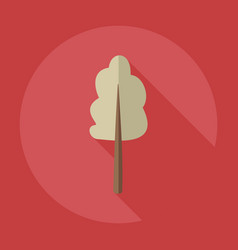 Flat modern design with shadow icons maple vector