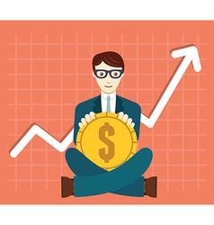 Foreign exchange market appreciation dollar vector