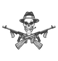 Gangster skull vector