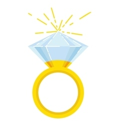 Gold wedding ring vector