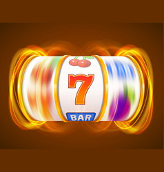 golden slot machine wins the jackpot casino vector image