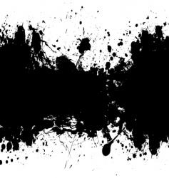 Grunge banner black vector
