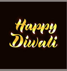 Happy diwali for poster invitation greeting card vector