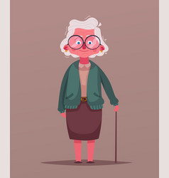 happy grandma cartoon vector image