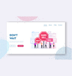 hard sell landing page template promoter use vector image