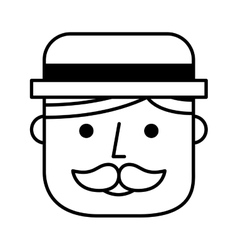 head face man hipsterstyle icon vector image