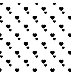 heart shape pattern seamless vector image
