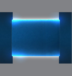 hi fi blue screen vector image