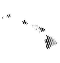 honeycomb havaii islands map vector image