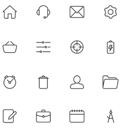 icons and buttons for web interface or vector image vector image