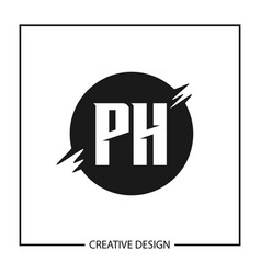 initial letter ph logo template design vector image