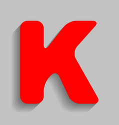 letter k sign design template element red vector image