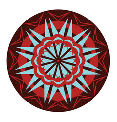 Lotus shaped mandala design or color vector