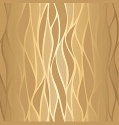 luxury golden wave wallpaper vector image