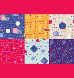 memphis funky pattern retro 90s abstract shapes vector image