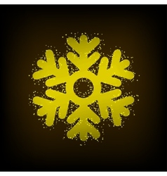 modern snowflakes background vector image
