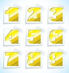 Number pepr gold tags vector image