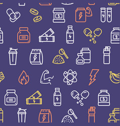 nutrition signs seamless pattern background on a vector image
