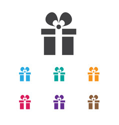 of shopping symbol on gift vector image