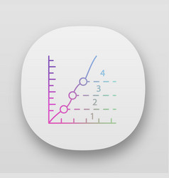Phase diagram app icon limits graphical vector