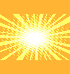 Pop art yellow background vector