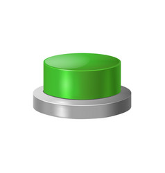 Realistic detailed 3d green button vector