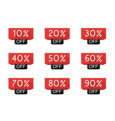 sale tag set vector image