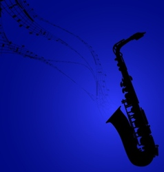 Saxophone with Musical Symbols vector image vector image