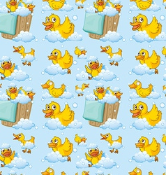 Seamless ducks vector image